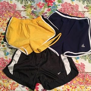 3 pairs gym shorts